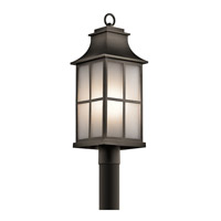 Kichler Pallerton Way 1 Light Outdoor Post Lantern in Olde Bronze 49583OZ