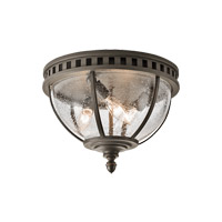 Kichler 49602LD Halleron 3 Light 12 inch Londonderry Outdoor Ceiling Light