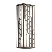 Kichler Magnolia 2 Light Outdoor Wall Light in Olde Bronze 49605OZLED