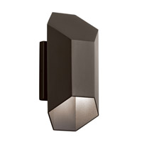 Estella LED 12 inch Textured Architectural Bronze Outdoor Wall Lantern