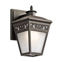 Kichler 49611OZ Park Row 1 Light 1 inch Olde Bronze Outdoor Wall Lantern