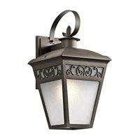 Kichler 49613OZ Park Row 1 Light 20 inch Olde Bronze Outdoor Wall Lantern