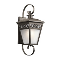 Kichler Park Row 1 Light Outdoor Wall Lantern in Olde Bronze 49614OZ