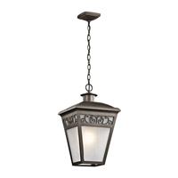 Kichler Park Row 2 Light Outdoor Flush Mount in Olde Bronze 49616OZ