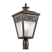 Kichler Park Row 1 Light Outdoor Post Lantern in Olde Bronze 49617OZ