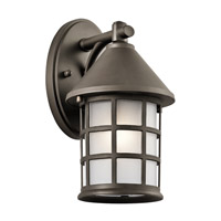 Kichler 49618OZ Town Light 1 Light 11 inch Olde Bronze Outdoor Wall Mount