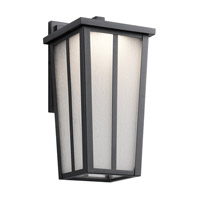 Kichler Amber Valley Outdoor Wall Light in Textured Black 49622BKTLED