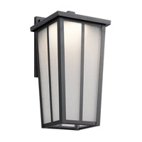 Kichler Amber Valley Outdoor Wall Light in Textured Black 49623BKTLED