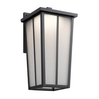 Kichler Amber Valley Outdoor Wall Light in Textured Black 49624BKTLED