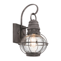 Kichler 49628WZC Bridge Point 1 Light 16 inch Weathered Zinc Outdoor Wall Light