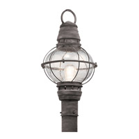 Kichler 49631WZC Bridge Point 1 Light 21 inch Weathered Zinc Post Lantern