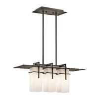 Kichler Lighting Caterham 3 Light Outdoor Chandelier in Olde Bronze 49637OZ photo thumbnail