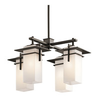 Kichler 49638OZ Caterham 4 Light 21 inch Olde Bronze Outdoor Chandelier