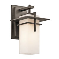 Kichler 49642OZ Caterham 1 Light 12 inch Olde Bronze Outdoor Wall Lantern in Standard