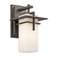 Kichler Caterham 1 Light Outdoor Wall Mount in Olde Bronze 49642OZFL