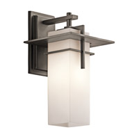 Kichler 49643OZFL Caterham 1 Light 15 inch Olde Bronze Outdoor Wall Mount in Fluorescent