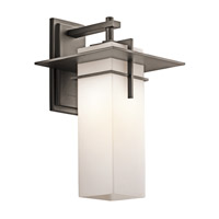Kichler 49644OZFL Caterham 1 Light 18 inch Olde Bronze Outdoor Wall Mount in Fluorescent