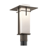 Kichler 49646OZ Caterham 1 Light 17 inch Olde Bronze Outdoor Post Lantern photo thumbnail