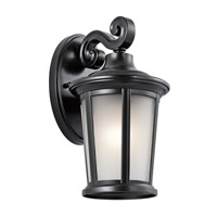 Kichler Turlee 1 Light Outdoor Wall Mount in Black 49654BK