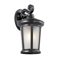 Kichler 49655BK Turlee 1 Light 14 inch Black Outdoor Wall Mount