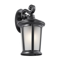 Kichler 49656BK Turlee 1 Light 17 inch Black Outdoor Wall Mount