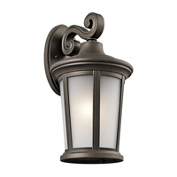 Kichler 49656OZ Turlee 1 Light 17 inch Olde Bronze Outdoor Wall Mount
