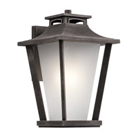 Kichler Sumner Court 1 Light Outdoor Wall Mount in Weathered Zinc 49662WZC