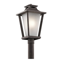 Kichler Sumner Court 1 Light Post Lantern in Weathered Zinc 49664WZC