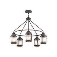 Kichler Ashland Bay 5 Light Outdoor Chandelier in Weathered Zinc 49667WZC