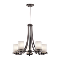 Kichler Hendrik 5 Light Outdoor Chandelier in Architectural Bronze 49671AZ