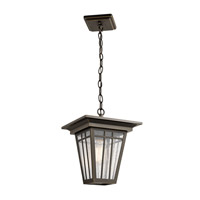 Kichler 49678OZ Woodhollow Lane 1 Light 10 inch Olde Bronze Outdoor Hanging Pendant
