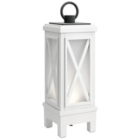 Kichler 49679WHRLED Montego 19 X 6 inch Weathered White Outdoor Portable Lantern, Bluetooth