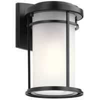 Kichler 49686BK Toman 1 Light 10 inch Black Outdoor Wall Light, Small