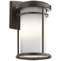 Kichler 49686OZL16 Toman 1 Light 10 inch Olde Bronze Outdoor Wall Light in LED, Dimmable
