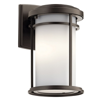 Kichler 49686OZL18 Toman LED 10 inch Olde Bronze Outdoor Wall Sconce Small