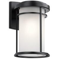 Kichler 49687BK Toman 1 Light 14 inch Black Outdoor Wall Light Medium