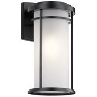 Kichler 49688BK Toman 1 Light 2 inch Black Outdoor Wall in Incandescent, X-Large photo thumbnail