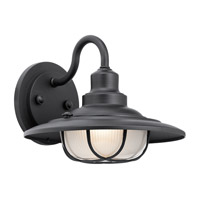 Harvest Ridge 1 Light 9 inch Textured Black Outdoor Wall Mount