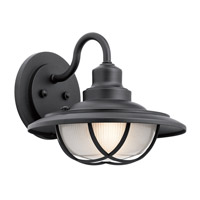 Kichler 49692BKT Harvest Ridge 1 Light 11 inch Textured Black Outdoor Wall Mount