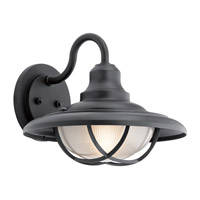 Kichler 49693BKT Harvest Ridge 1 Light 13 inch Textured Black Outdoor Wall Mount