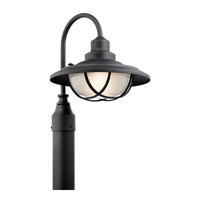Kichler 49694BKT Harvest Ridge 1 Light 16 inch Textured Black Post Lantern