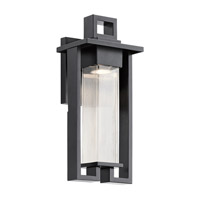 Kichler 49706BK Chlebo 1 Light 17 inch Black Outdoor Wall Light