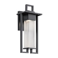 Kichler 49707BK Chlebo 1 Light 21 inch Black Outdoor Wall Light