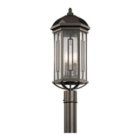 Galemore 3 Light 23 inch Olde Bronze Post Lantern