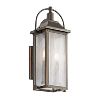 Kichler 49714OZ Harbor Row 2 Light 19 inch Olde Bronze Outdoor Wall Sconce, Small photo thumbnail