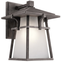 Kichler Beckett 1 Light Outdoor Wall Light in Weathered Zinc 49721WZC