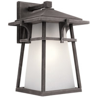Kichler Beckett 1 Light Outdoor Wall Light in Weathered Zinc 49722WZC