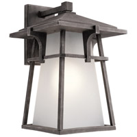 Kichler 49723WZC Beckett 1 Light 18 inch Weathered Zinc Outdoor Wall Light in Standard