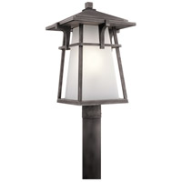 Kichler Beckett 1 Light Outdoor Post Lantern in Weathered Zinc 49724WZC