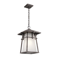 Kichler Beckett 1 Light Outdoor Hanging Pendant in Weathered Zinc 49725WZC